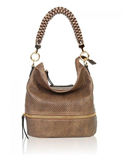LeahWard Women's Fashion Style Shoulder Bags Soft Tote Bag Handbags For Her CW150906 COPPERTONE SHOULDER BAG
