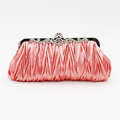 Las mujeres Satin Evento/fiesta / Bolsa de noche de boda beige/Rosa/Violeta / azul / Negro / Plata / oro,Fucsia Blushing Pink