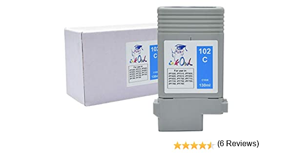 InkOwl – Compatible Cartuchos de Tinta de Repuesto para Canon PFI-102 C (130ml, Cian) – imagePROGRAF iPF500 iPF510 iPF600 iPF605 iPF610 iPF650 iPF655 iPF700 iPF710 iPF720 iPF750 iPF755 iPF760 iPF765: Amazon.es: Oficina