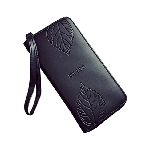 (Livoty Fashion Women Leather Clutch Envelope Wallet Long Card Holder Case Purse Handbag)