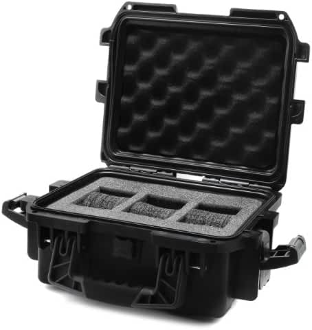 Invicta IG0097-SMIS-B 3 slot Black Plastic Watch Box Case