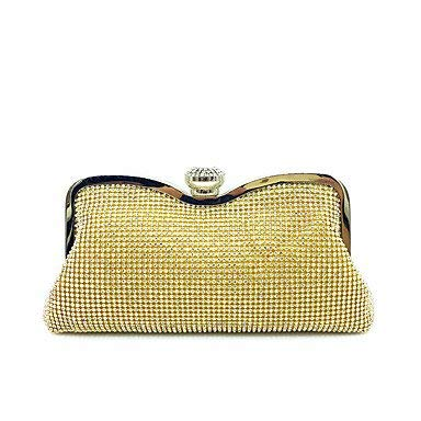 gold Wetietir Clutch Bag Women Elegant HighGrade Luxury Diamonds Evening Bag Dinner Purse (color   Black)