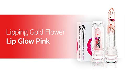 - Lipping Gold Flower Lip Glow (Pink Flower)