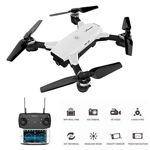 RC Drone with WiFi FPV 2MP Camera HD Wide-Angle Lens 720P Quadcopter for Foldable Drone Real Time FPV Quadcopter RC Helicopter Selfie Quadcopter -