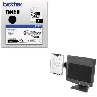 Mount Monitor Fellowes Copyholder (KITBRTTN450FEL8033301 - Value Kit - Fellowes Office Suites Monitor Mount Copyholder (FEL8033301) and Brother TN450 TN-450 High-Yield Toner (BRTTN450))