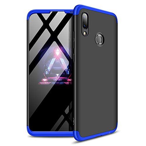 Mybloo Case for Huawei P Smart 2019 Case/Honor 10Lite Case [3 in 1] 360 Degrees Full Body Protection,[Anti-Scratch] [Shockproof] Matte Ultra Slim PC Hard Case for Huawei P Smart 2019 (Black+Blue) -