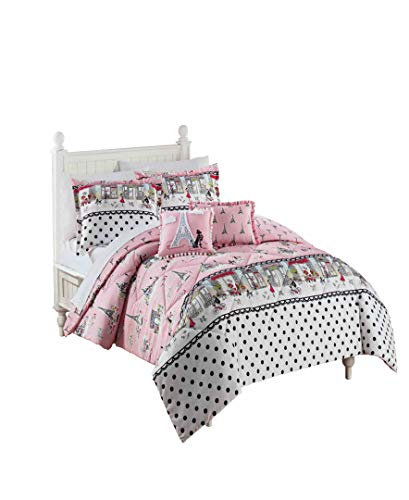 WAVERLY Kids Ooh La Reversible Bedding Collection, Full, Multicolor