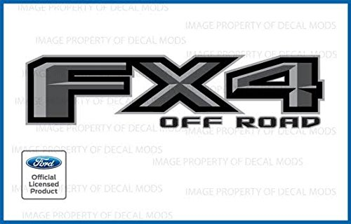 Ford F150 FX4 Off Road Decals Truck Stickers Gray (2015, 2016, 2017,2018) - FPPG (set of 2)