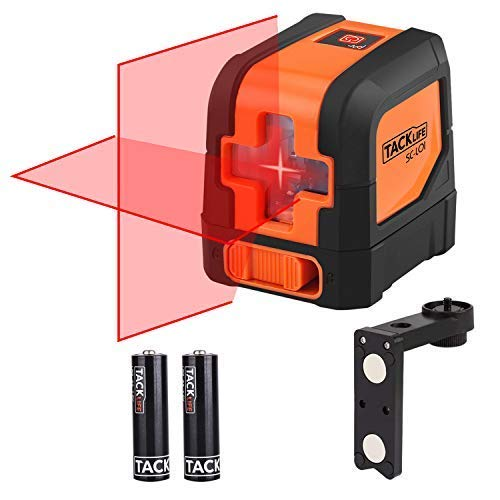 - Tacklife SC-L01-50 Feet Laser Level Self-Leveling Horizontal and Vertical Cross-Line Laser - Magnetic Mount Base and Carrying Pouch, Battery Included
