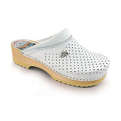 2a49d746 De bajo costo Leon B2 Zuecos Zapatos Zapatillas de Cuero Para Mujer ...