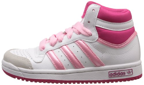 adidas - Scarpe sportive - Basketball Topten Hi K, Unisex bambini, bianco (Blanc (White/Blast Pink/White)), 36 2/3