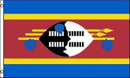 Amazon Com Swaziland Flag Polyester 3 Ft X 5 Ft Garden Outdoor