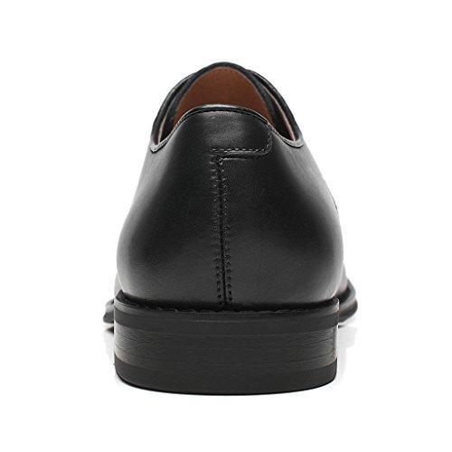 La Milano Mens Oxford Classico Moderno Rotondo Captoe Scarpe Splendo-1-nero