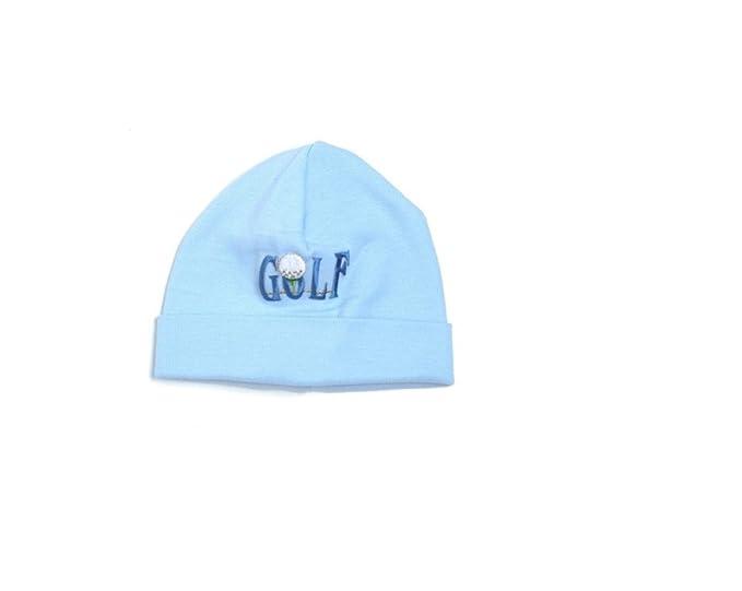 ab3aed6990d Amazon.com  Melondipity Boys Golf Baby Hat - Simply Warm   Blue Cap ...