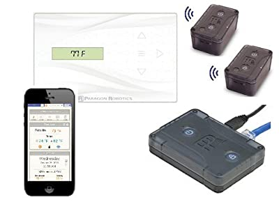 Paragon Robotics Model COM003 Wireless Smart Efficiency Thermostat System w/ Dual Remote Temperature and Humidity Sensors