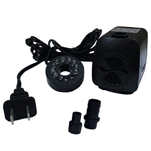 iBuy365 15w 110v 800L/H Electric Submersible Water Pump with 12 Colorful LED for Aquarium Pond Fountain Fish Tank Water Hydroponic by iBuy365 (Image #5)