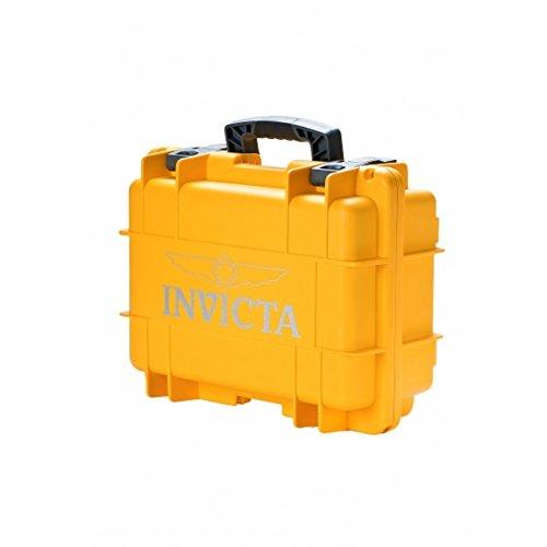 Invicta Impact Case 8-Slots - Hartschalen Uhren Koffer für 8 Uhren - sichere Aufbewahrung (Gelb) (DC8YEL)