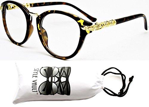 Wm538-vp Cateye Wayfarer Style Clear Lens Glasses (057 Light Tortoise/Gold, - Sunglasses Yellow Rihanna