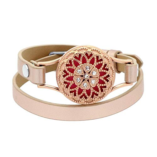Aromatherapy Essential Oil Diffuser Bracelet (Rose Gold)