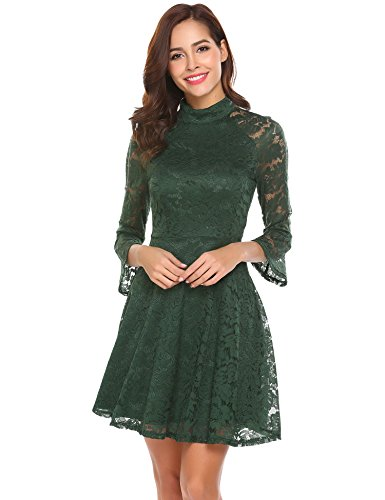 lace 3 4 sleeve dress - 7