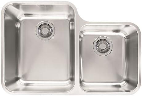 Franke LAX16030 Largo 28 5 16 x 18 7 8 x 7 7 8 18 Gauge Undermount Dual Bowl Stainless Steel Kitchen Sink