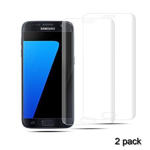 Samsung Galaxy S7 Screen Protector [Case Friendly] [Anti-Scratch] [9H Hardness] Tempered Glass Screen Protector for Galaxy S7 (2pack Transparent)