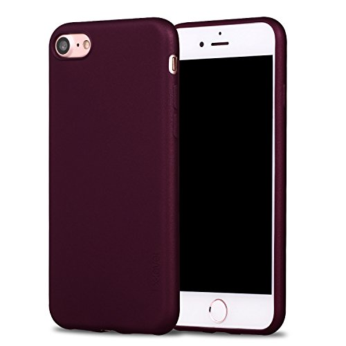 "iPhone 7 Case, iPhone 8 Case, X-level Guardian Series Soft TPU Back Cover Phone Case for iPhone 7(2016) / iPhone 8(2017) 4.7"" (Wine Red)"