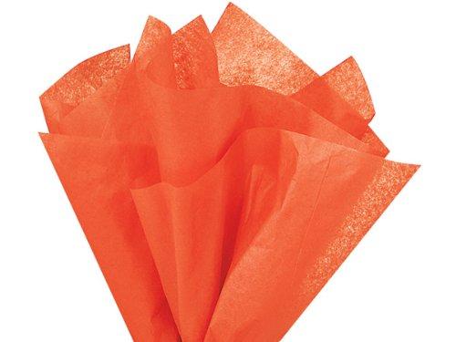 Bulk Orange Tissue Paper 20 Inch x 30 Inch - 48 XL Sheets -