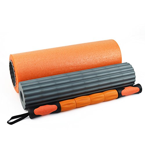 3 in 1 Foam Roller, Muscle Roller, Yoga, Gym, Pilates, Exercise, Fitness,...