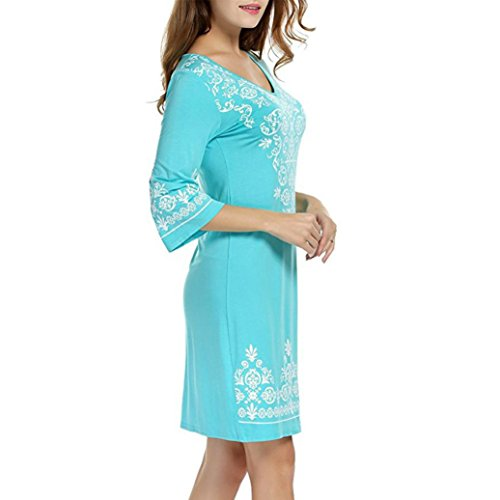 mariage fille femme robe courte taille soiree femme pour cher robe DAY8 femme manches grande vetement cocktail robe vintage 3 chic lgant printemps Bleu 4 femme ete vetements pas fashion SwYAEqEzB