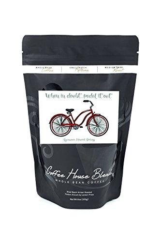 Medium Sycamore Springs - Avila Beach, Sycamore Mineral Springs - Beach Cruiser Bike (8oz Whole Bean Small Batch Artisan Coffee - Bold & Strong Medium Dark Roast w/Artwork)
