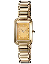 Fendi Women's 'Classico Rect' Swiss Quartz and Gold-Tone-Stainless-Steel Dress Watch, Color: (Model: F701425000)