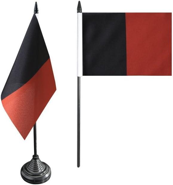 Tischflagge gratis Aufkleber Tischfahne Schwarz rot Flaggenfritze/®