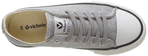 plata Victoria Zapatillas Basket Plateado Para Mujer Lurex UqvFxP