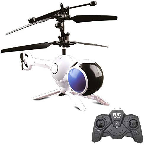 EsOfficce RC Helicopter Flying Ball, 3 Channel Remote Control Dragonfly, Colorful Shining LED Aircraft,Rechargeable Mini Induction Drone, Indoor Outdoor Remote Control Toy for Kids Adult 14 Age+