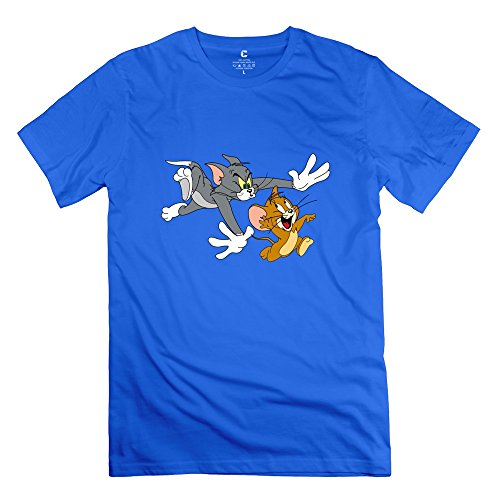 StaBe Men's Tom And Jerry Show Logo T-Shirt Cotton Sport