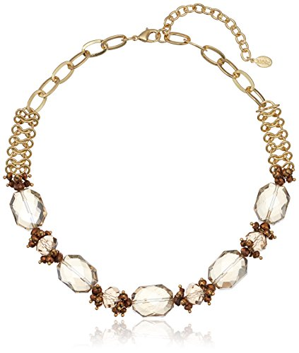 Beaded Collar Gold Tone Statement Necklace
