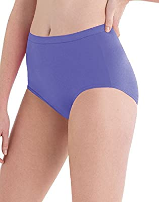 Hanes Women's Plus Size Cotton Brief Panty Multipack