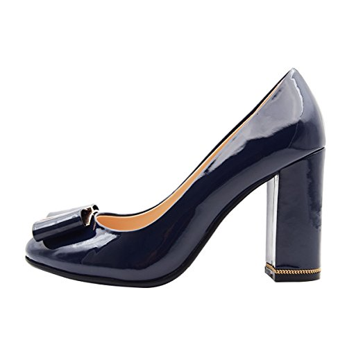 A VerocaraPump1 Patent B F collo donna navy basso f6RqAwdR