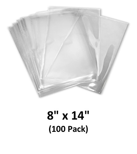 8x14 inch Odorless, Clear, 100 Guage, PVC Heat Shrink Wrap Bags for Gifts, Packagaing, Homemade DIY Projects, Bath Bombs, Soaps, and Other Merchandise (100 Pack) | MagicWater Supply