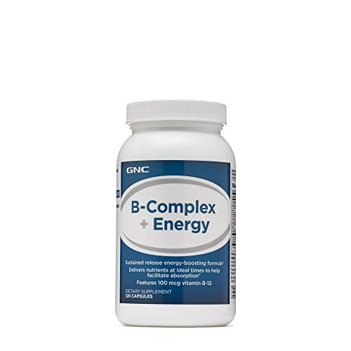 GNC B-Complex Plus Energy, 120 - Gnc B-12 Vitamins
