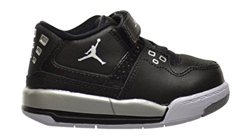 Jordan Flight 23 BT Baby Toddlers Shoes Black/White-Metallic Silver 317823-011 (5 M US)