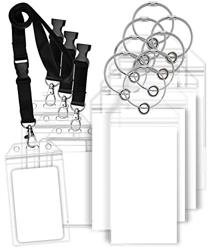 (GreatShield Luggage Tags, ID Batch Holder with Lanyard Weatherproof Zip Seal & Steel Loops for Princess, Carnival, Costa, Holland America, and P&O Norwegian Cruise (8 Tags + 4 ID Holders))