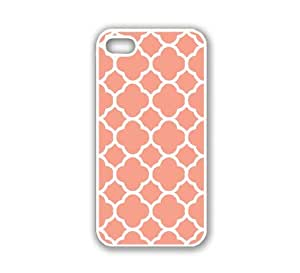 iPhone 5 Case White ThinShell Case Protective iPhone 5 Case Quartefoil Coral by icecream design