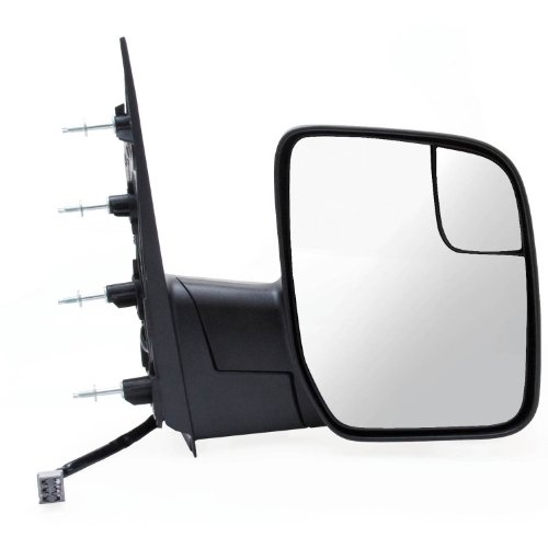 Fit System 61197F Ford Econoline Sail Passenger Side OE Style Power Replacement Mirror