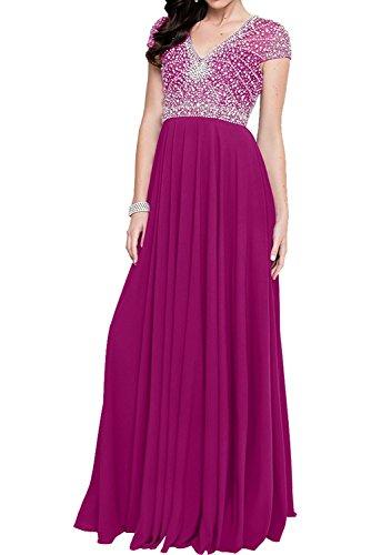 La Marie Chiffon Abschlussballkleider Kleider Damen Abendkleider Rock Jugendweihe Pink Lang Festlich Braut rrdqRCfw