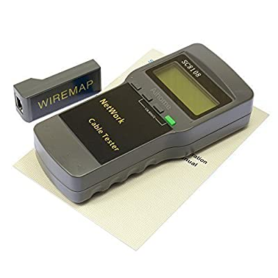 AIHOME 5E SC8108 Multifunction Network LAN Cable Tester Meter Cat5 Phone RJ45 RJ11 BNC