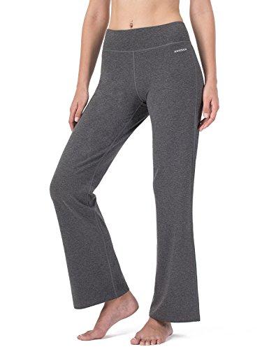39d184e985 NAVISKIN Women's Bootcut Yoga Pants Bootleg Pants Outdoor Workout Pants  Inner Pocket Grey Size M