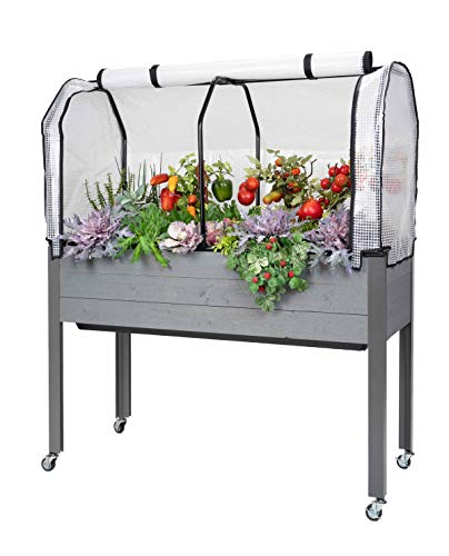 "CedarCraft Self-Watering Elevated Spruce Planter (21"" x 47"" x 32"