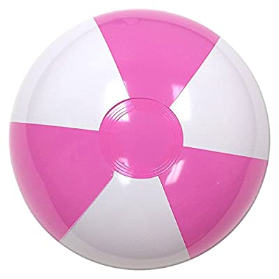 Beachballs - 16'' Pink & White Beach Ball: Sports & Outdoors